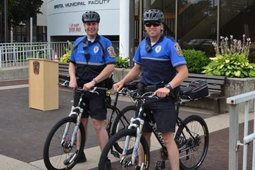 two policement on bikes