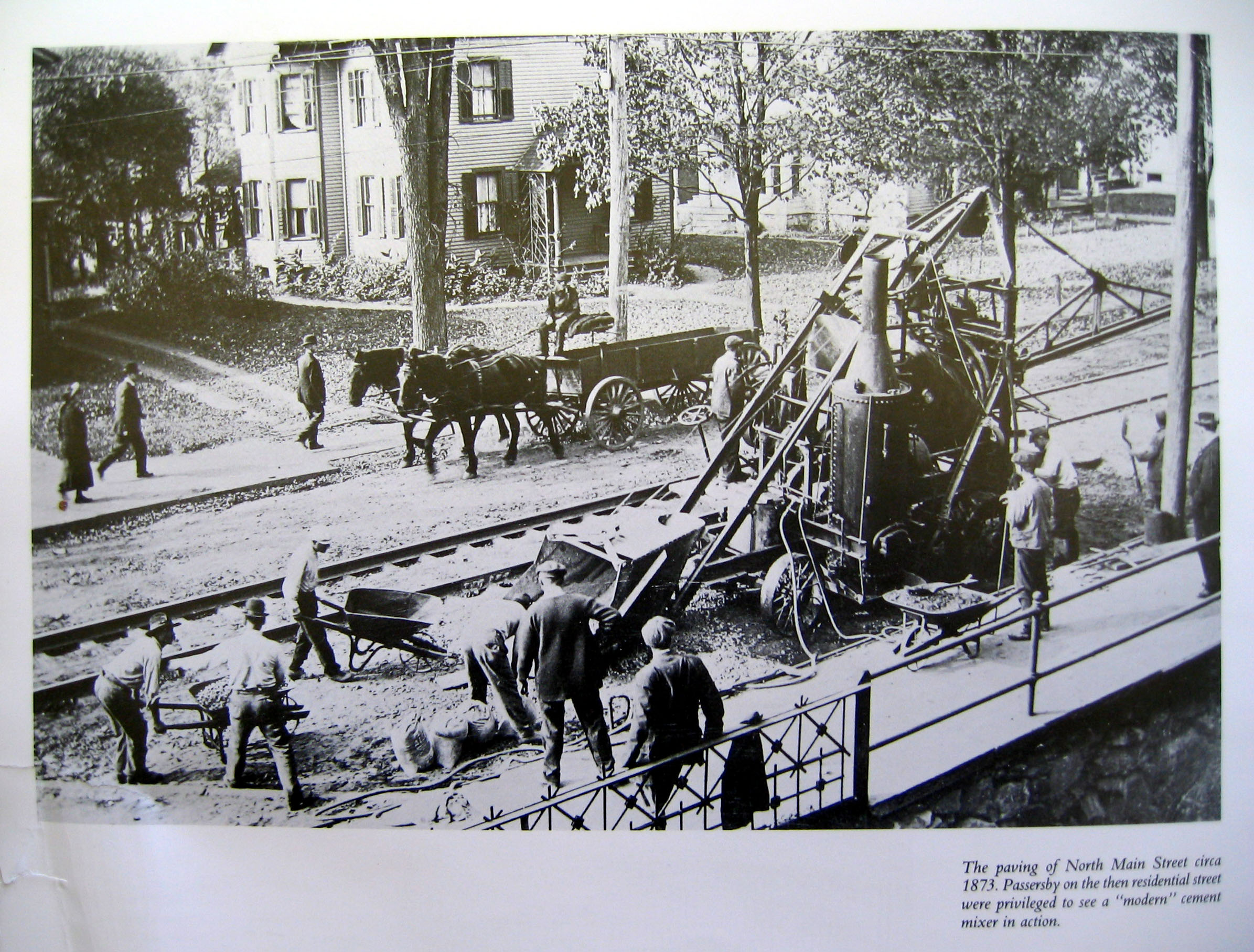 Paving North Main Street 1873